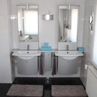 Fotos de baños | Diseños de baños con suelo de baldosas de cerámica ...