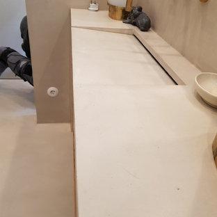 Badezimmer und Microzementboden in einem Kreuzberger Loft