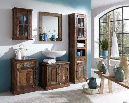 shabby-chic-style badezimmer - design-ideen & beispiele für die, Garten und erstellen