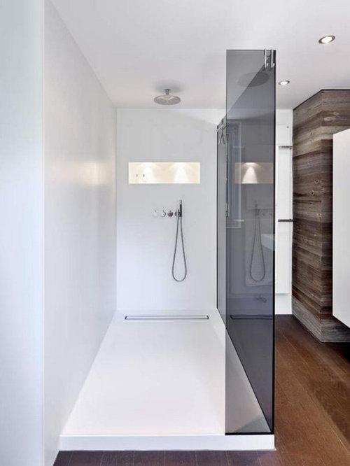 Duschbäder mit dunklem Holzboden Ideen, Design & Bilder | Houzz