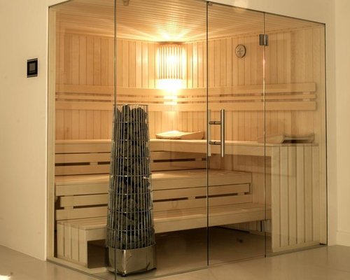 salles de bains et wc scandinaves avec un sauna photos et id es d co de salles de bains et wc. Black Bedroom Furniture Sets. Home Design Ideas