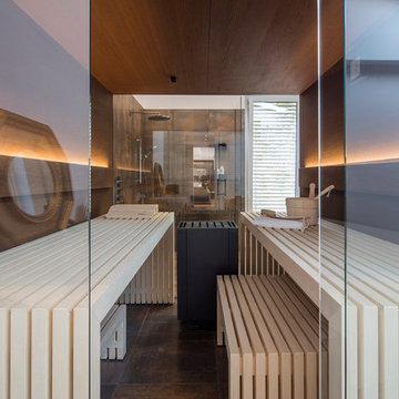 Design Sauna im Privatspa mit wohnlichem Charakter