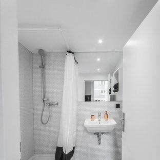 Salle de bain avec un lavabo suspendu Dusseldorf : Photos et ...