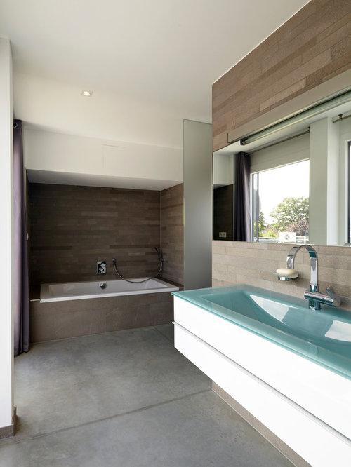 Moderne Badezimmer mit Duschbadewanne - Design-Ideen & Beispiele ... | {Modernes bad mit eckbadewanne 28}