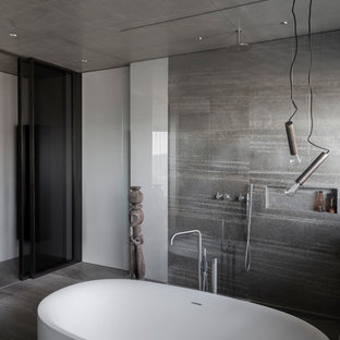 b der mit freistehender badewanne ideen design bilder houzz. Black Bedroom Furniture Sets. Home Design Ideas