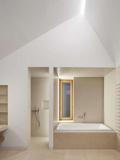 badezimmer mit travertin design ideen beispiele f r. Black Bedroom Furniture Sets. Home Design Ideas