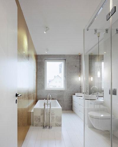 Minimalistisch Badezimmer by KPT Architekten