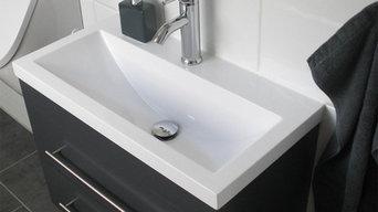 Extraschmales Gästebadmöbel für kleine Badezinmer perfekt geeignet