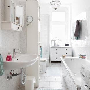 Wunderbar Kleines Skandinavisches Badezimmer In Berlin