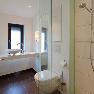 Salle de bain avec un carrelage vert Hambourg : Photos et idées déco ...