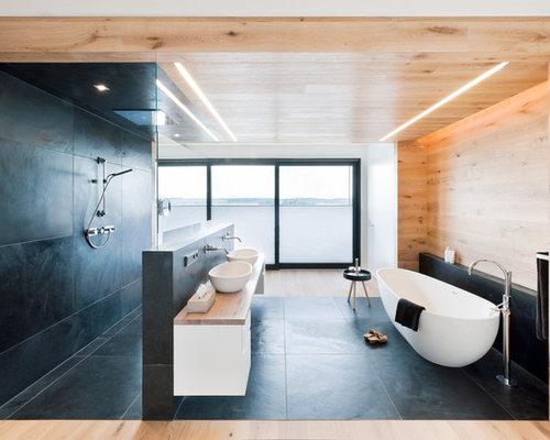 holzfliesen bad ideen bilder houzz. Black Bedroom Furniture Sets. Home Design Ideas