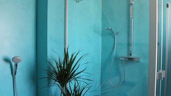 Fugenlose Badgestaltung