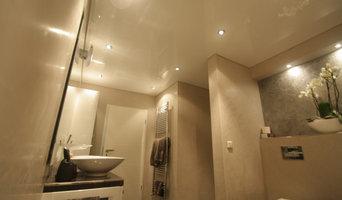 Fugenloses Badgestaltung / Wandgestaltung Black Platin