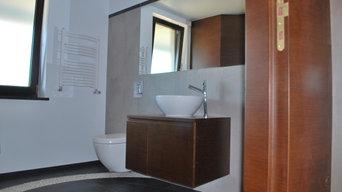Gäste WC mit Kieselsteinen