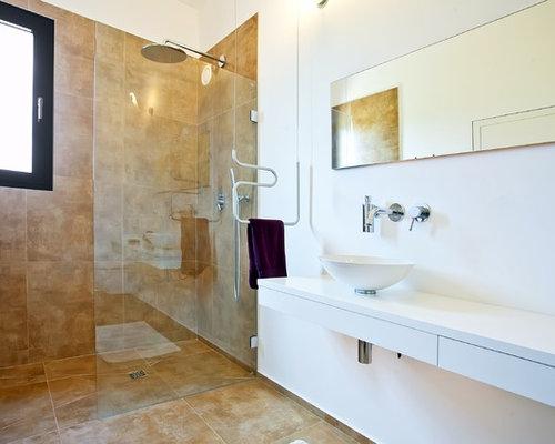 Moderne badezimmer mit offener dusche ideen & beispiele für die ...