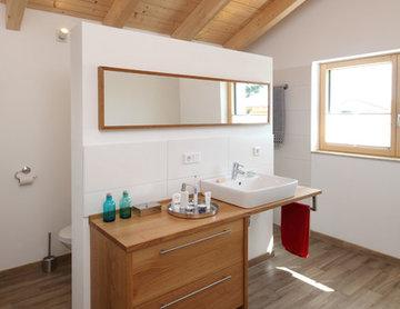 geschmackvolles Energiesparhaus in Holzrahmenbauweise