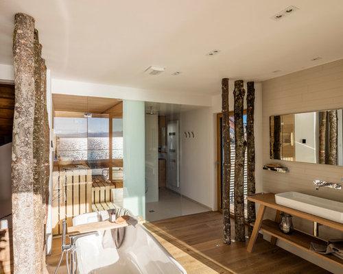 Salle de bain avec un carrelage de pierre allemagne for Salle de bain allemagne