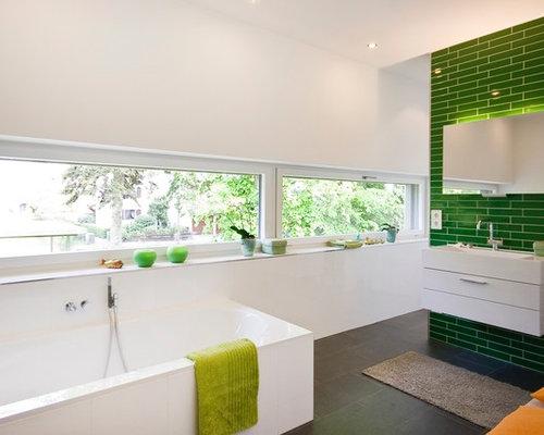 Badezimmer mit grüner Wandfarbe Ideen, Design & Bilder | Houzz