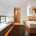Mesquite Bathtub Raised Platform Traditional Bathroom
