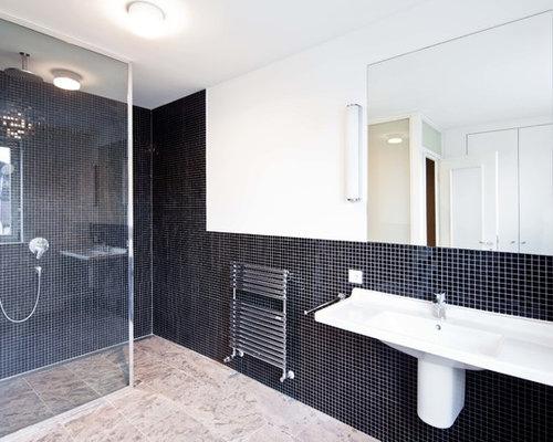 Badezimmer Mit Schwarzen Fliesen fantastisch badezimmer mit schwarzen fliesen ideen