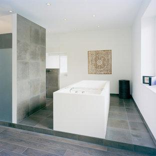 Große Badezimmer mit braunen Fliesen Ideen, Design & Bilder | Houzz