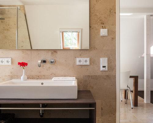 badezimmer mit travertin-boden: design-ideen & beispiele für die, Hause ideen