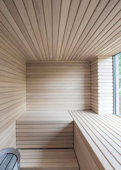 Minimalistisch Badezimmer by 2D+ Architekten