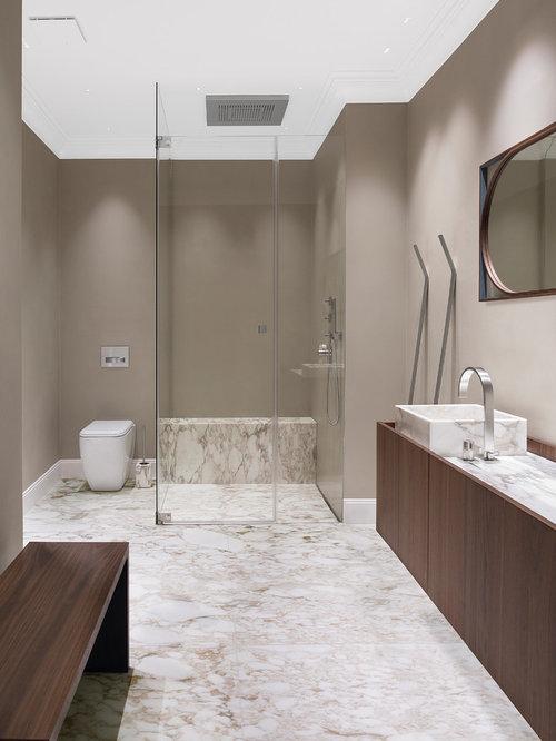 Klassische Badezimmer mit Aufsatzwaschbecken Ideen, Design & Bilder ...