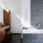 Traditional Black and White Tile Bathroom Remodel ...