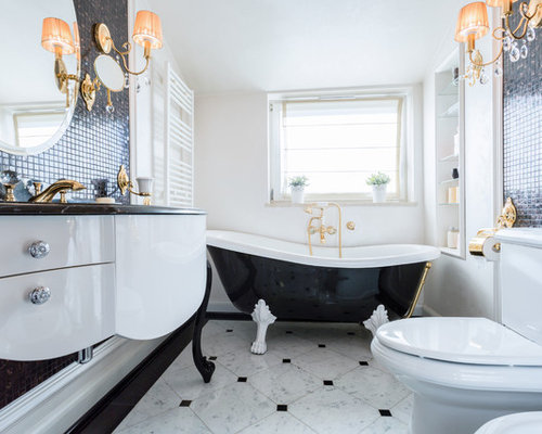 Klassische Badezimmer - Design-Ideen & Beispiele für die Badgestaltung | {Bad design schwarz weiß 97}