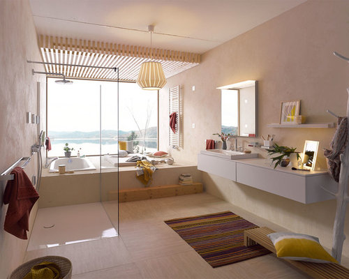 mediterrane badezimmer design ideen beispiele f r die badgestaltung houzz. Black Bedroom Furniture Sets. Home Design Ideas