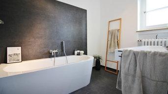 Modern baden in Altbauvilla