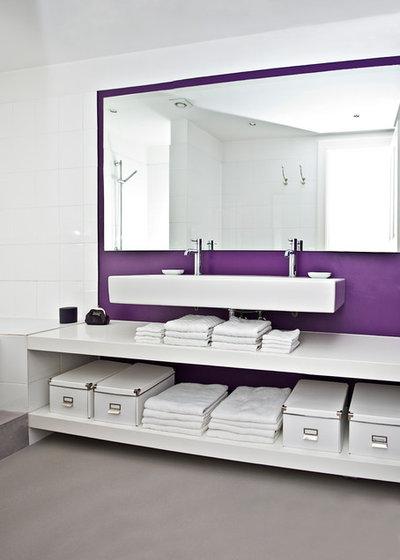 16 solutions originales pour ranger les serviettes de bain for Meuble salle de bain pour ranger serviette