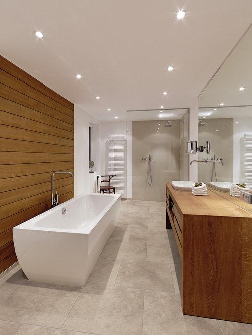 badezimmer mit vinyl boden und bodengleicher dusche design ideen beispiele f r die. Black Bedroom Furniture Sets. Home Design Ideas