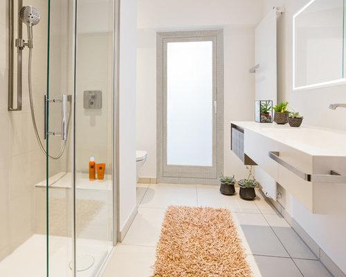 Badezimmer mit beigefarbenen Fliesen Ideen, Design & Bilder | Houzz