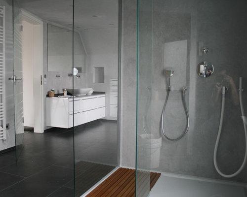 Salle d\'eau moderne avec des plaques de verre : Photos et idées déco ...