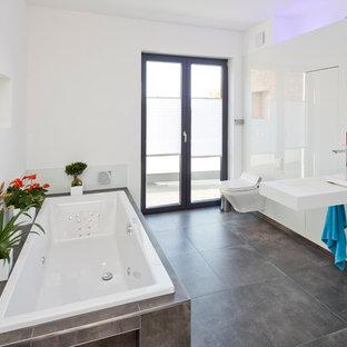 badezimmer grau wei, badezimmer grau-weiß - ideen & bilder | houzz, Design ideen