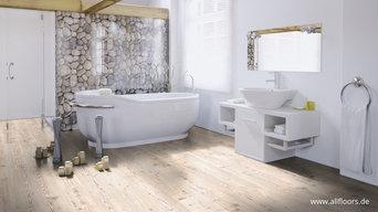 Modernes Badezimmer mit PUR Bioboden