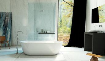 Modernes Badkonzept mit Marmor