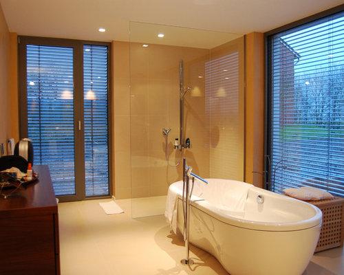 Badezimmer mit offener Dusche Ideen, Design & Bilder | Houzz