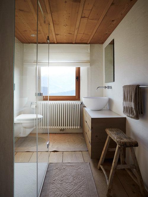 Badezimmer design badgestaltung  Rustikale Badezimmer mit bodengleicher Dusche - Design-Ideen ...