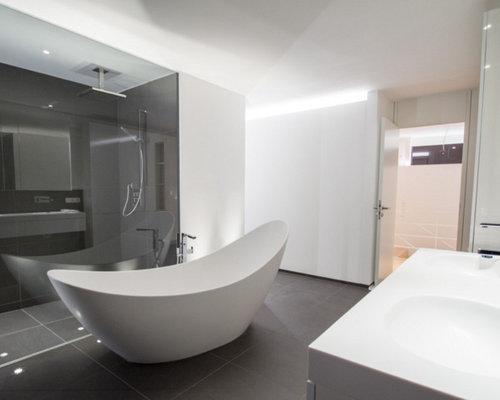 Badezimmer Waschbecken Fotos : Badezimmer mit integriertem waschbecken ideen beispiele