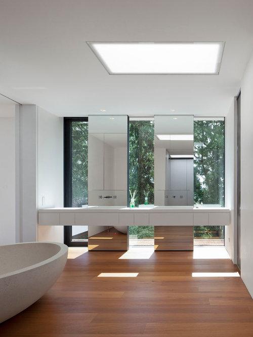 Badezimmer mit spiegelfliesen ideen design bilder houzz - Badezimmer stuttgart ...