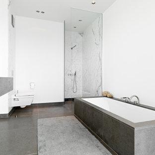 Salle de bain avec un carrelage gris Cologne : Photos et ...
