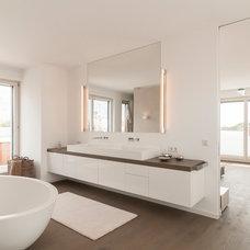 Contemporary Bathroom by Egg and Dart Design Corporation