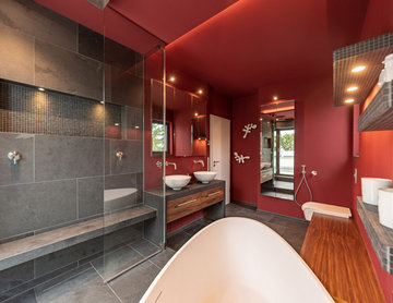 Red with Slate