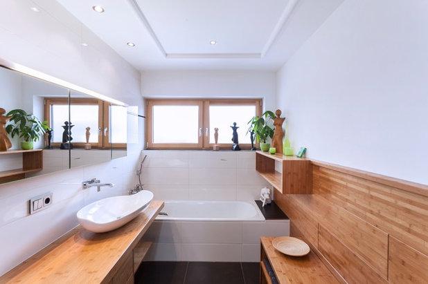 Современный Ванная комната by FLAIG Kreativer Innenausbau