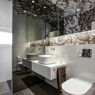 Badezimmer In Schwarz Weiß Ideen Bilder Houzz