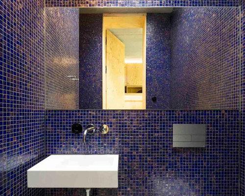 Badezimmer Grau Mit Mosaik Blau ~ Die Besten Einrichtungsideen und ... | {Moderne badezimmermöbel grau 98}