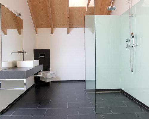 salle d 39 eau avec des plaques de verre photos et id es d co de salles d 39 eau. Black Bedroom Furniture Sets. Home Design Ideas